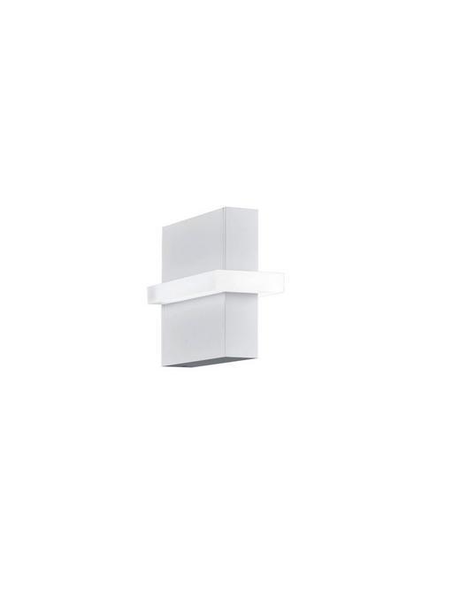 AUßENWANDLEUCHTE Weiß - Weiß, MODERN, Metall (16/8/17cm) - Helestra