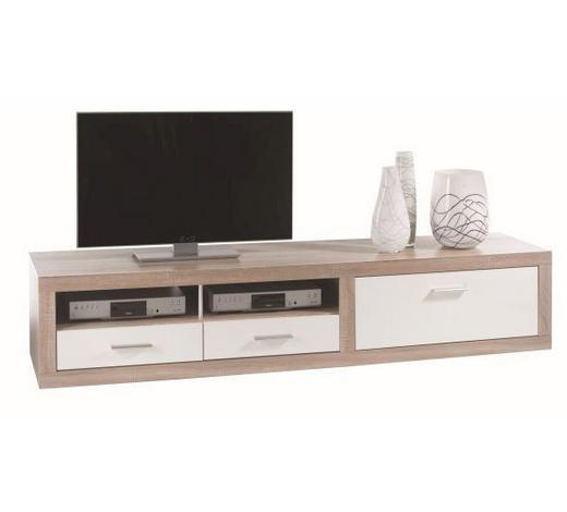 KOMODA   206/44/50 cm   bijela, boje hrasta  - bijela/boje hrasta, Design, drvni materijal/plastika (206/44/50cm) - Xora