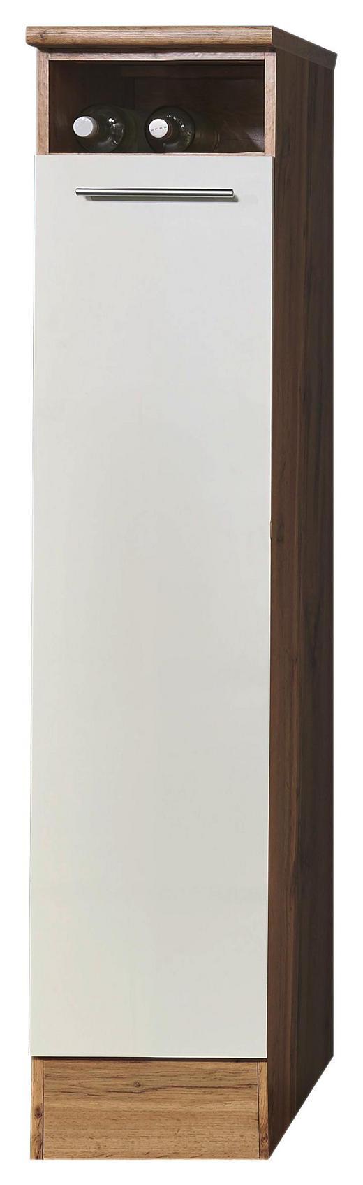 APOTHEKERSCHRANK - Eichefarben/Silberfarben, KONVENTIONELL, Holzwerkstoff/Metall (30/158/60cm) - Xora