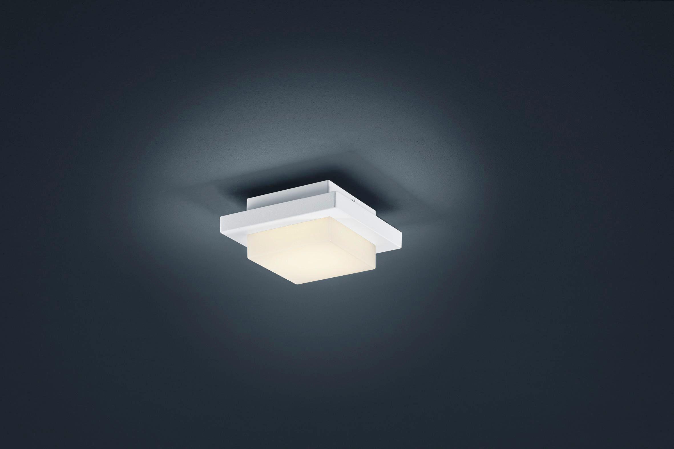AUßENLEUCHTE - Weiß, Design, Glas/Metall (14/14/6,5cm)