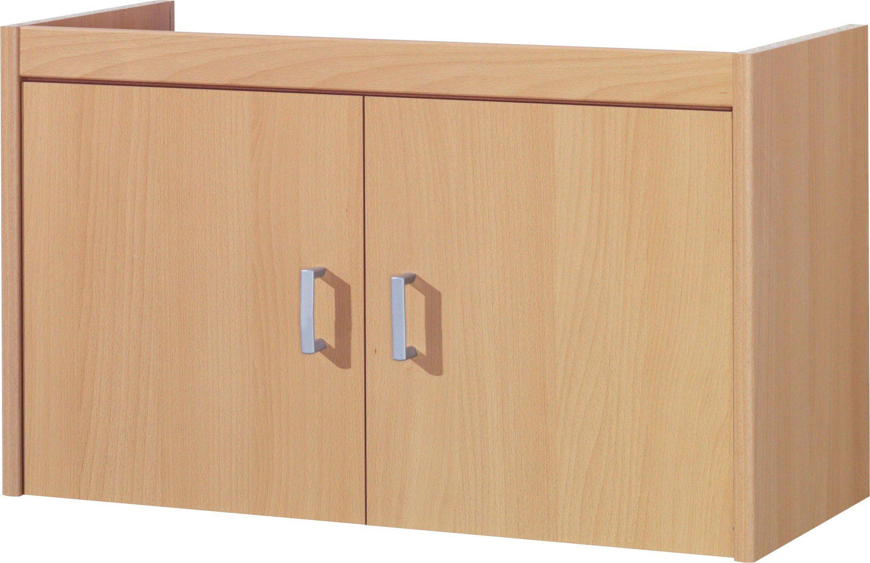 AUFSATZSCHRANK 72/43/36 cm Buchefarben - Buchefarben/Silberfarben, Design, Kunststoff (72/43/36cm) - CS SCHMAL