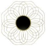 DEKOSPIEGEL     - Messingfarben, Trend, Glas/Metall (88,5/88,5/5,5cm) - Ambia Home