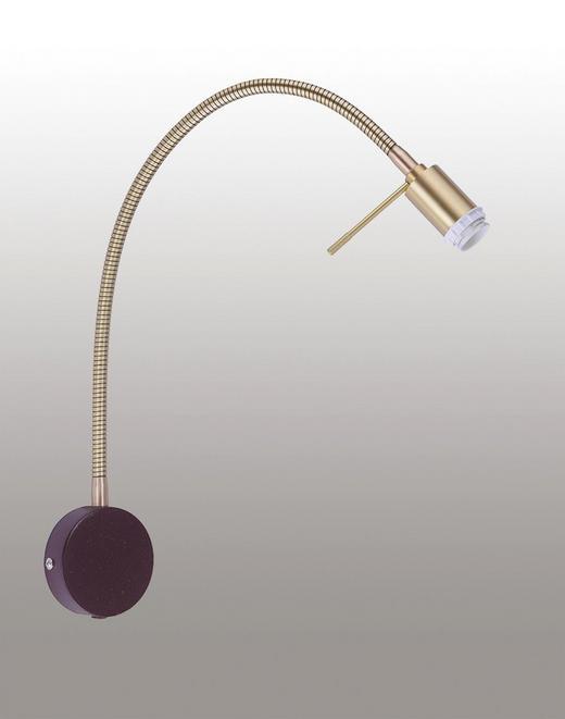 WANDLEUCHTE - Rostfarben/Messingfarben, KONVENTIONELL, Metall (35/11/53cm)