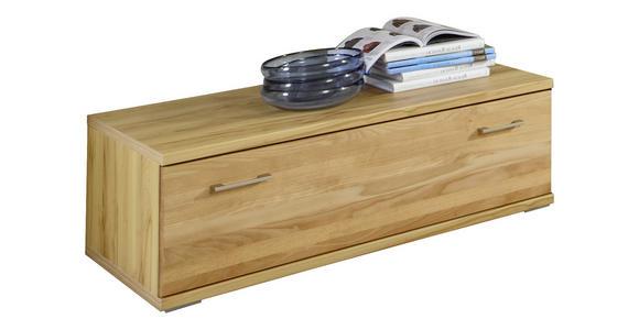 LOWBOARD 120/37,7/55,5 cm  - Silberfarben/Buchefarben, KONVENTIONELL, Holz/Holzwerkstoff (120/37,7/55,5cm) - Cantus
