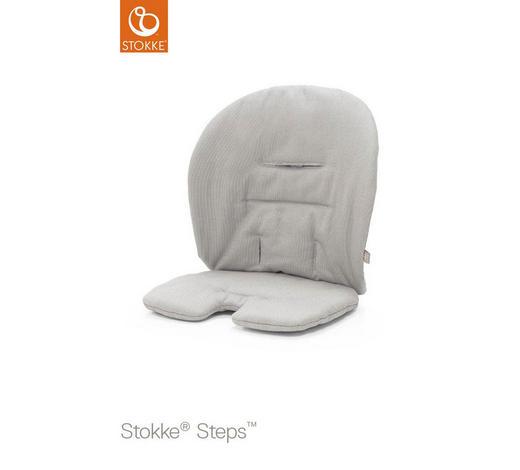 Steps Sitzkissen Timeless Grey OCS  - Hellgrau, Basics, Textil (18/28/5cm) - Stokke