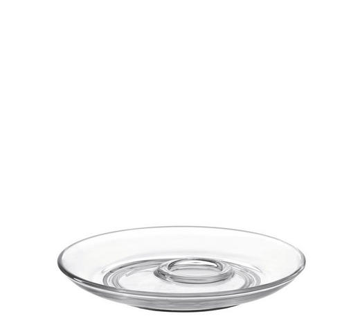 PODŠÁLEK,  - průhledné, Basics, sklo (14,50cm) - Leonardo
