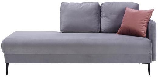 LIEGE in Textil Grau - Schwarz/Rosa, MODERN, Textil/Metall (190/85/88cm) - Carryhome