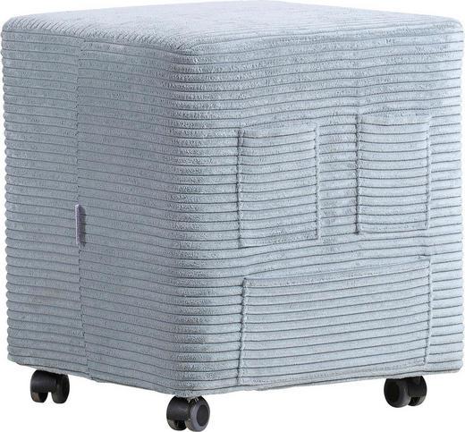 SITZWÜRFEL Kord Grau - Grau, Design, Textil (42/47/42cm) - Carryhome