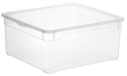 BOX MIT DECKEL - Transparent, Basics, Kunststoff (18l)