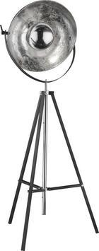 STEHLEUCHTE - Silberfarben/Schwarz, LIFESTYLE, Metall (78/180cm)