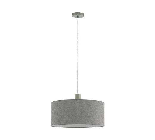 HÄNGELEUCHTE - Grau/Nickelfarben, Trend, Textil/Metall (53/150cm)