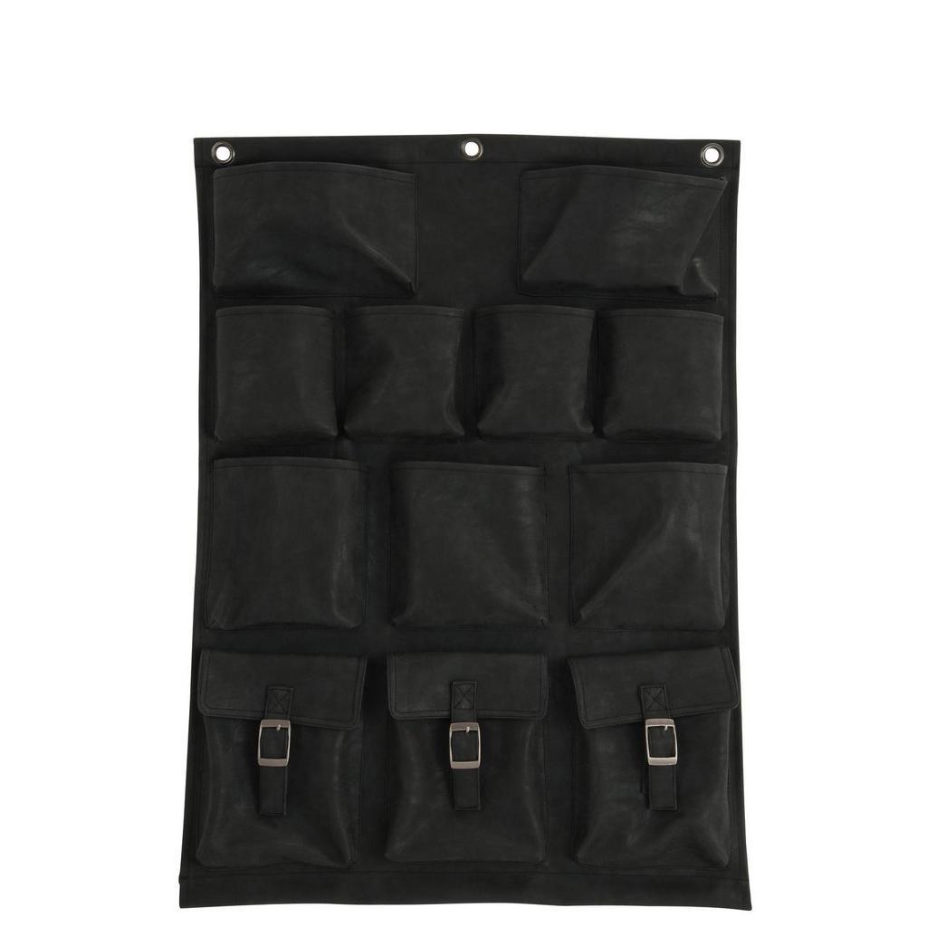 Wand-Pflanztasche aus schwarzem Kunststoff