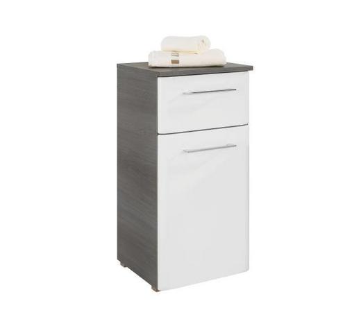 SPODNÍ SKŘÍŇKA, barvy grafitu - bílá/barvy chromu, Konvenční, kov/dřevo (35/72/33cm) - Xora