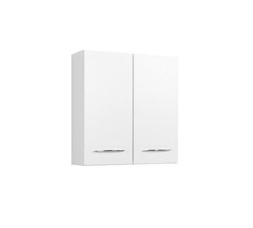 HÄNGESCHRANK Weiß  - Chromfarben/Weiß, KONVENTIONELL, Holzwerkstoff (60/64/20cm) - Carryhome