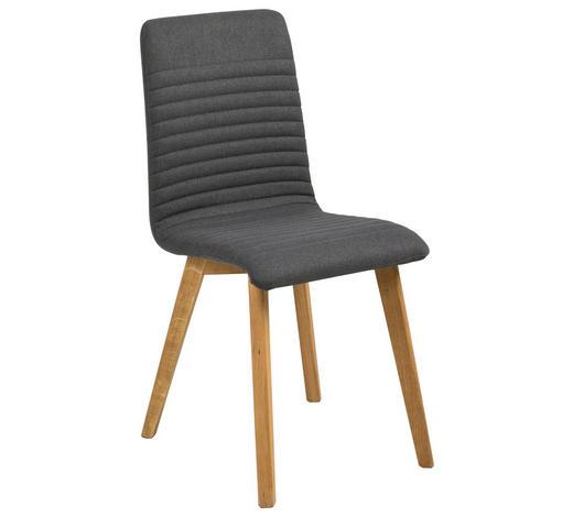 STUHL in Textil Anthrazit, Eichefarben - Eichefarben/Anthrazit, Design, Holz/Textil (42/90/43cm) - Carryhome