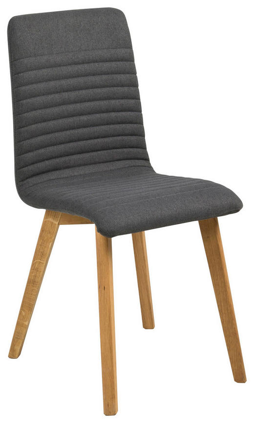 STUHL Webstoff Anthrazit, Eichefarben - Eichefarben/Anthrazit, LIFESTYLE, Holz/Textil (42/90/43cm) - Carryhome