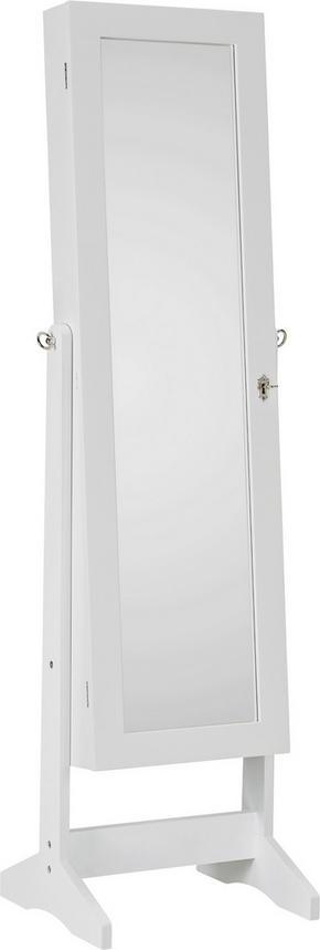 SMYCKESSKÅP - vit, Klassisk, glas/träbaserade material (41/146/37cm) - Xora