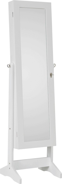 SCHMUCKSCHRANK - Weiß, KONVENTIONELL, Glas/Kunststoff (41/146/37cm)