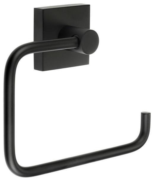 TOILETTENPAPIERHALTER - Schwarz, Design, Metall (14/11,5/3,9cm)