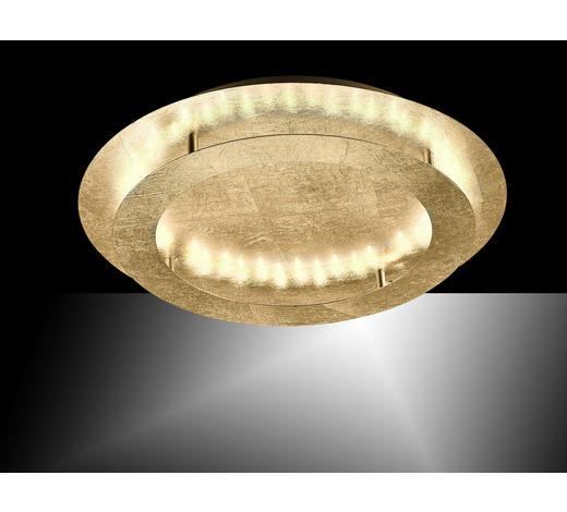 LED-DECKENLEUCHTE   - Goldfarben, Design, Metall (50/50/8cm)