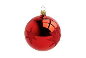 JULGRANSKULA - röd, Lifestyle, glas (8cm) - X-Mas
