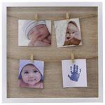 BILDERRAHMEN  - Naturfarben/Weiß, Design, Holz/Papier (34,4/34,4/15cm) - My Baby Lou