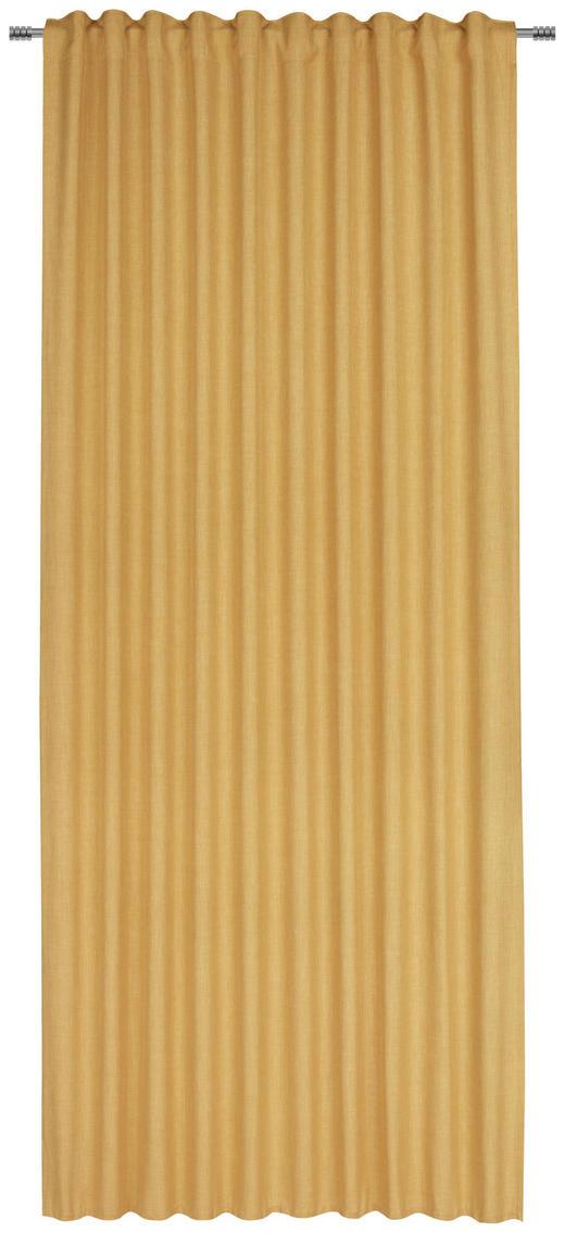 FERTIGVORHANG halbtransparent - Gelb, Basics, Textil (140/245/cm) - Esposa