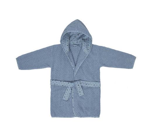 KINDERBADEMANTEL - Blau/Schwarz, Basics, Textil (86/92null) - Bebe Jou