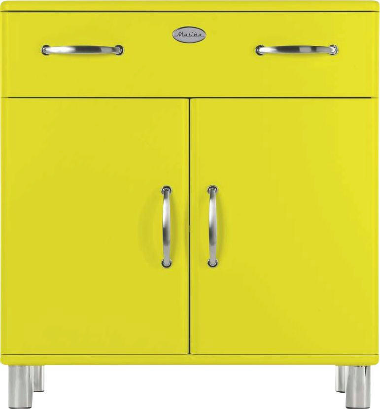 KOMMODE Gelb - Gelb/Nickelfarben, Design, Holzwerkstoff/Metall (86/92/41cm) - CARRYHOME