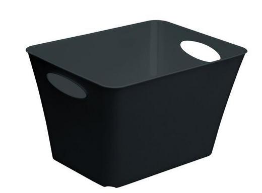 BOX Kunststoff Schwarz - Schwarz, Basics, Kunststoff (24l)