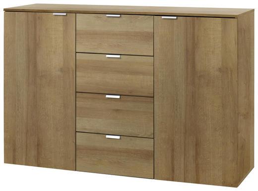 SIDEBOARD Eichefarben - Eichefarben/Alufarben, Design, Holzwerkstoff/Metall (140/80/42cm) - Carryhome