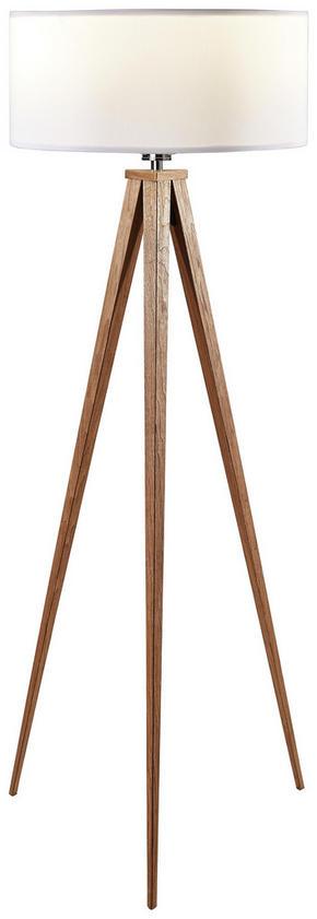GOLVLAMPA - valnötsfärgad, Natur, metall/trä (50/136cm) - Novel