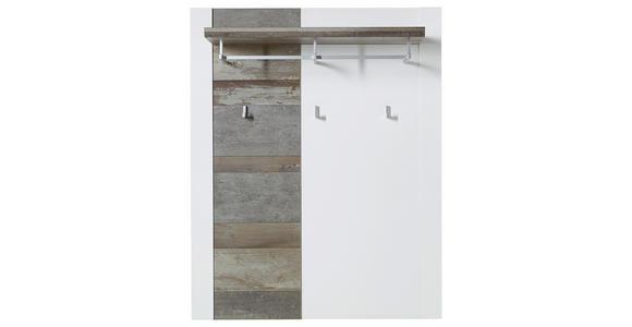 GARDEROBENPANEEL foliert Braun, Weiß  - Braun/Weiß, KONVENTIONELL (90/112/29cm) - Voleo