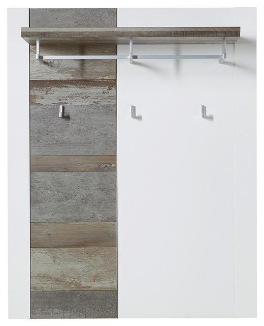 GARDEROBENPANEEL - Braun/Weiß, Trend, Holzwerkstoff (90/112/29cm) - Xora