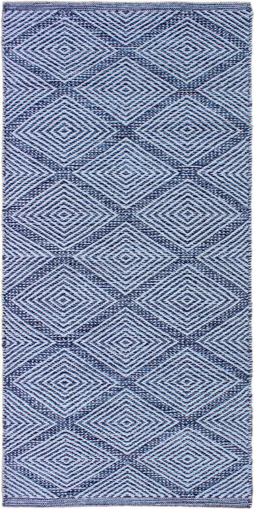 FLECKERLTEPPICH 60/120 cm - Blau, Design, Textil (60/120cm) - Boxxx