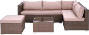 LOUNGEGRUPP - brun/ljusbrun, Design, metall/glas (234/68/161cm) - Ambia Garden