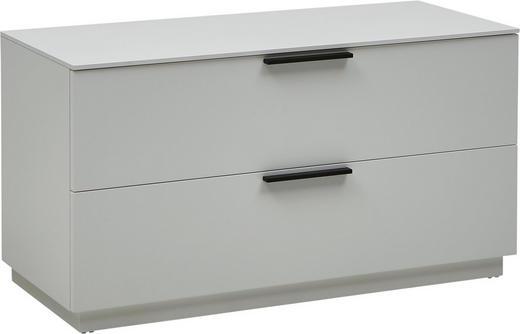GARDEROBENBANK Weiß - Schwarz/Weiß, Design, Metall (84/45/36cm) - DIETER KNOLL