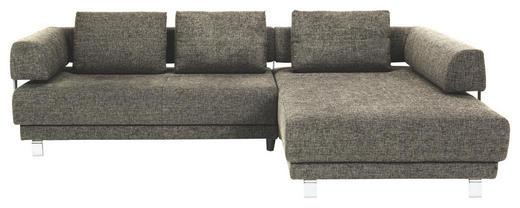 WOHNLANDSCHAFT Flachgewebe Rückenkissen - Chromfarben/Dunkelbraun, Design, Textil/Metall (300/208cm) - EWALD SCHILLIG BRAND