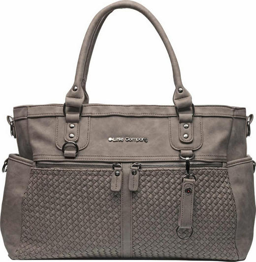 Monaco Braided Little Company  WICKELTASCHE - Taupe, KONVENTIONELL, Kunststoff/Textil (30/41/12cm)