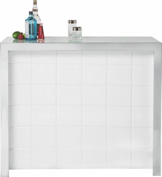 BAR Weiß - Weiß, Design, Holzwerkstoff/Textil (120/104/48cm) - KARE-Design