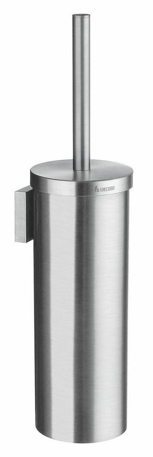 WC-BÜRSTENGARNITUR in Metall - Chromfarben, Basics, Kunststoff/Metall (39cm)