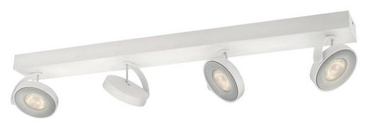 MYLIVING LED-DECKENLEUCHTE - Weiß, Design, Metall (62,8/9/9,3cm) - Philips
