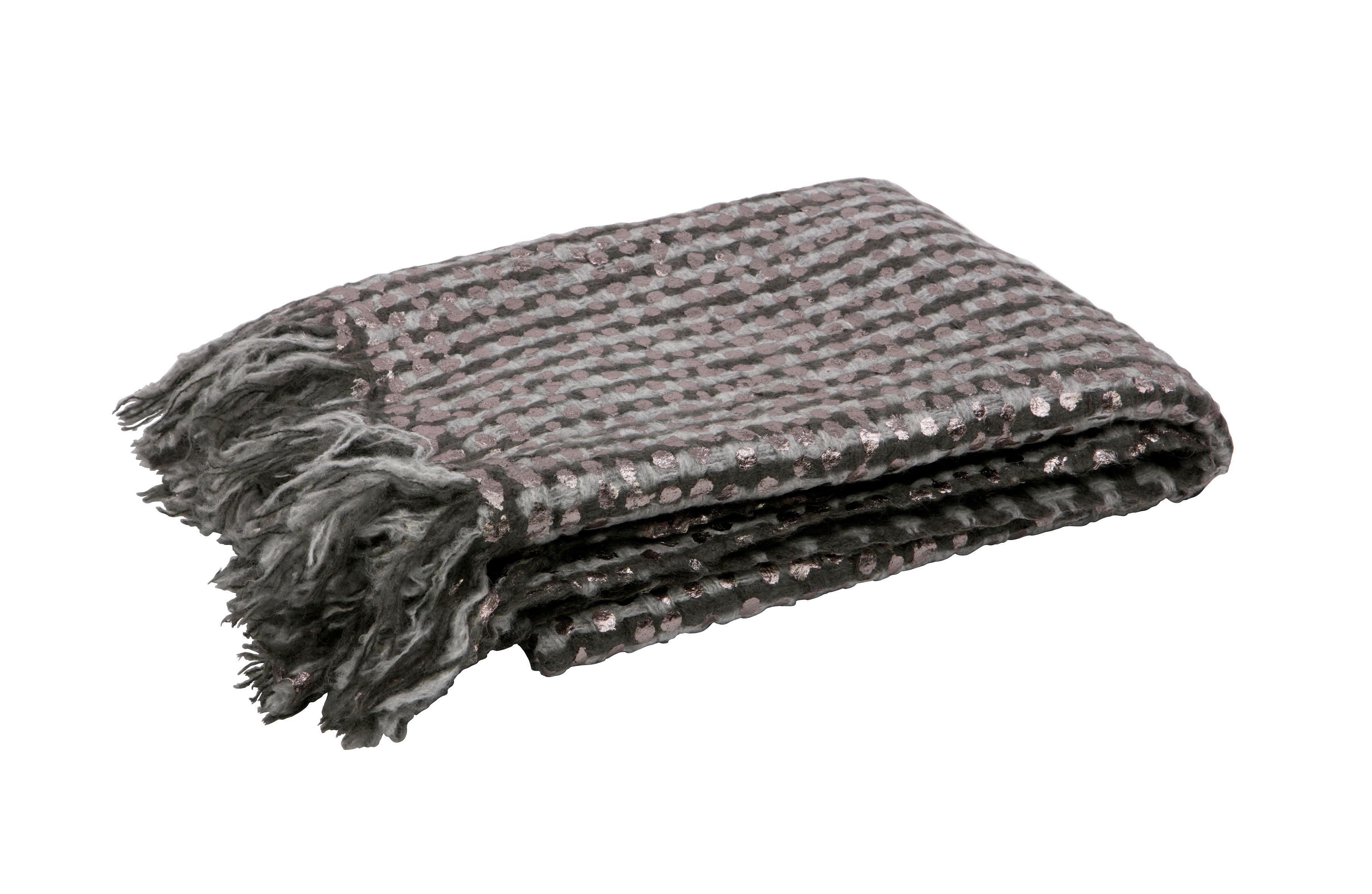 WOHNDECKE 130/170 cm Grau - Grau, Textil (130/170cm)