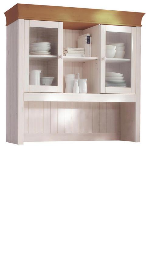 AUFSATZSCHRANK 139/112.5/31 cm Weiß - Weiß, Design, Holz (139/112.5/31cm) - Carryhome