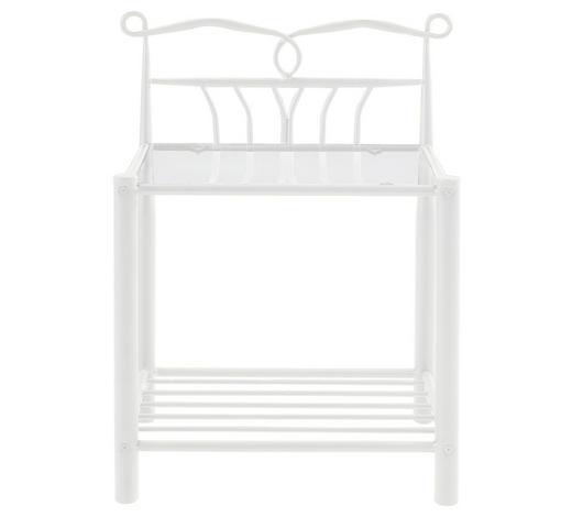 NACHTKÄSTCHEN in Weiß  - Weiß, Design, Metall (50/66/37cm) - Carryhome