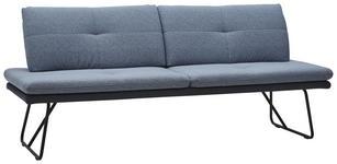 SITZBANK in Metall, Textil Anthrazit, Blau, Schwarz  - Blau/Anthrazit, Design, Textil/Metall (208/90/74cm) - Dieter Knoll