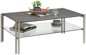 SOFFBORD - silver/grå, Design, metall/glas (110/60/45cm) - Novel