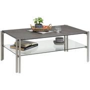 COUCHTISCH in Glas, Keramik, Metall 110/60/45 cm - Silberfarben/Grau, Design, Glas/Keramik (110/60/45cm) - Novel