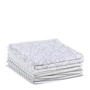 STOFFWINDEL STRIPES & BEAR  - Taupe/Weiß, Basics, Textil (75/75cm) - My Baby Lou