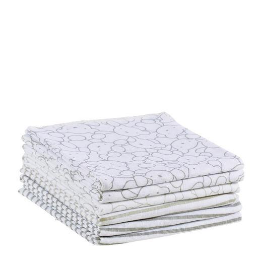 STOFFWINDEL - Taupe/Weiß, Basics, Textil (75/75cm) - My Baby Lou